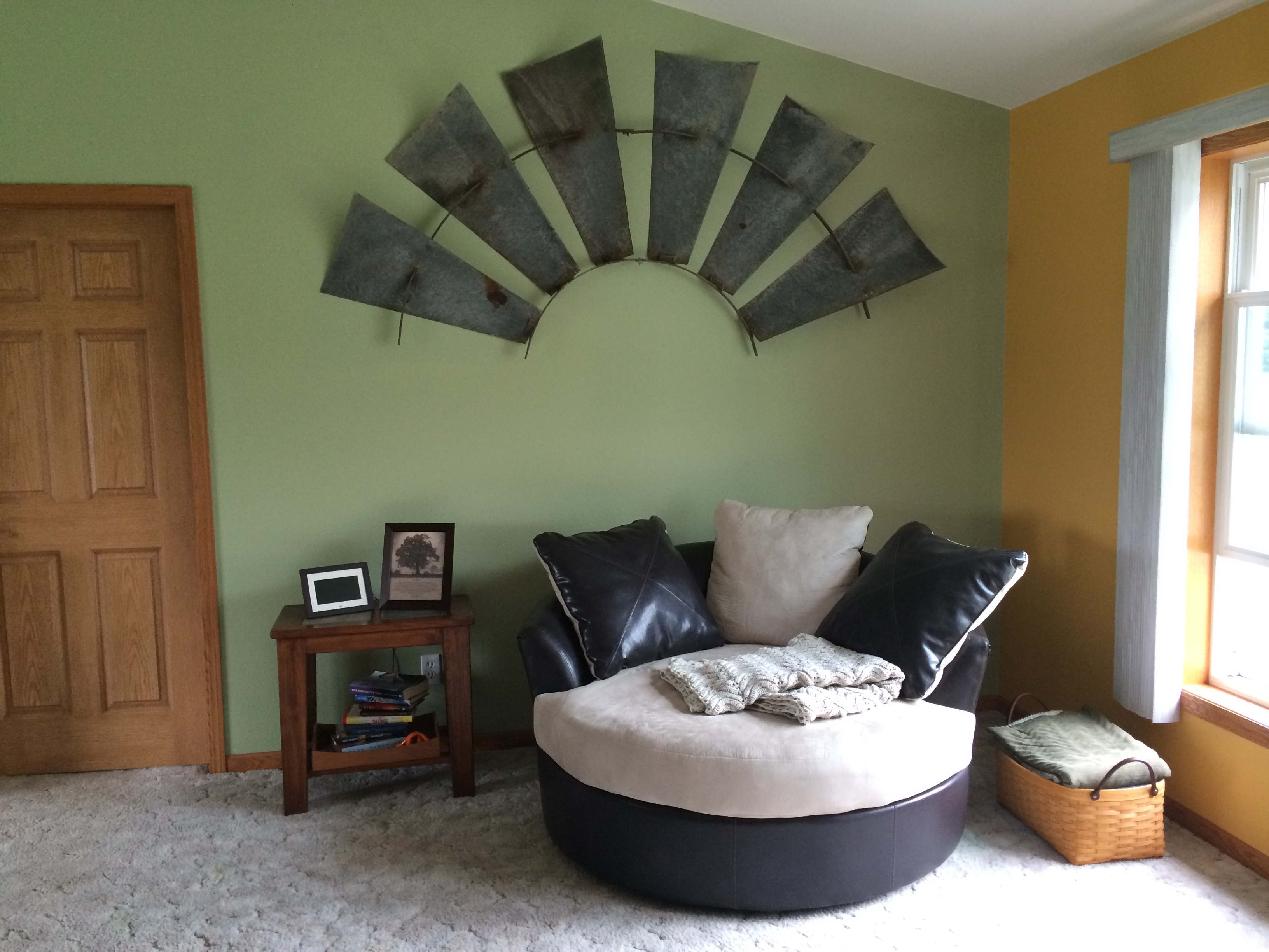 How To Hang a Windmill in Your Living Room
